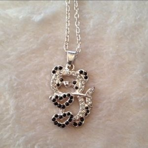 Rhinestone Panda Necklace